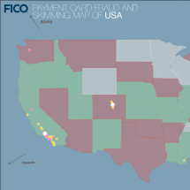 FICO's US Fraud Map Infographic