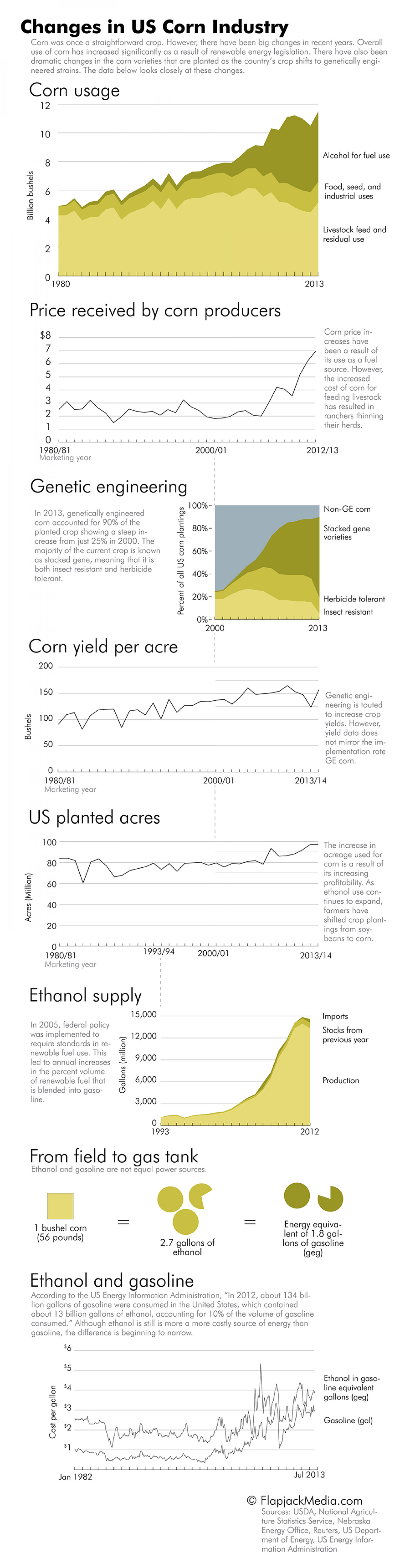 Fields of Gold: Changes in the US Corn Industry Infographic