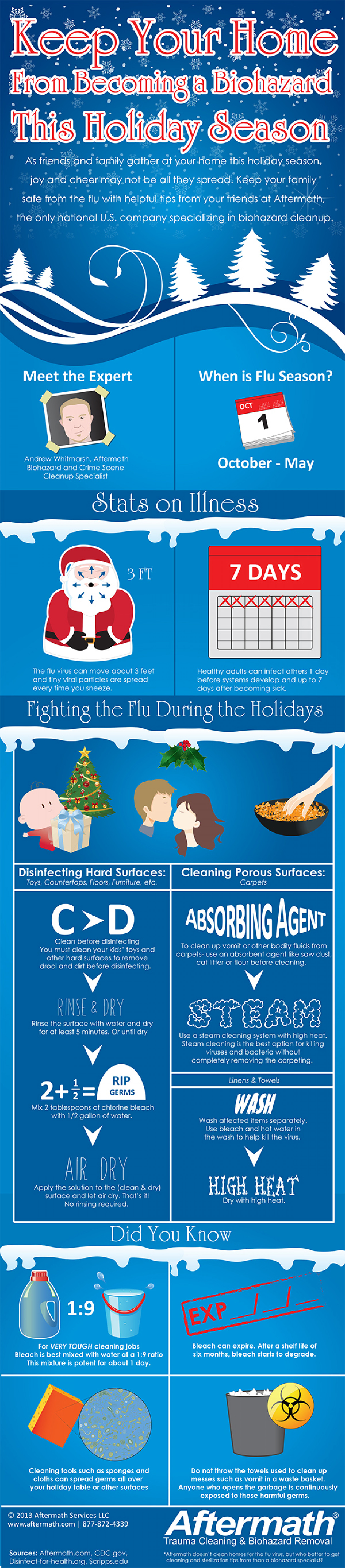 Fighting the Flu During the Holidays Infographic