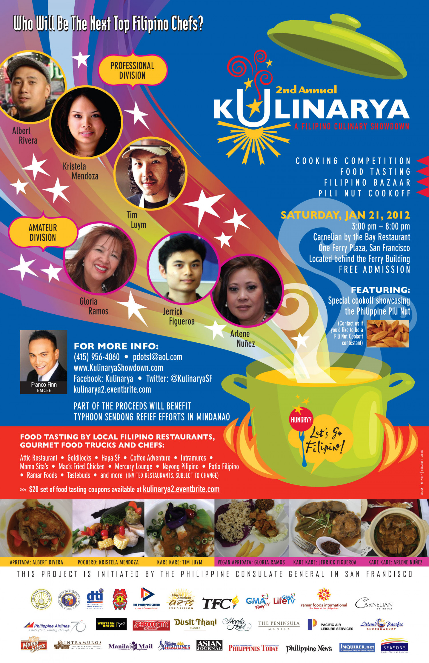 Filipino Culinary Showdown Infographic