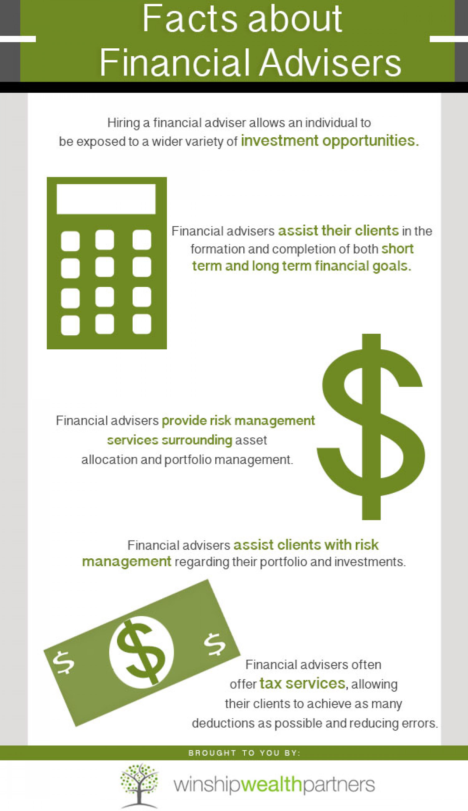 Facts About Financial Advisers Infographic