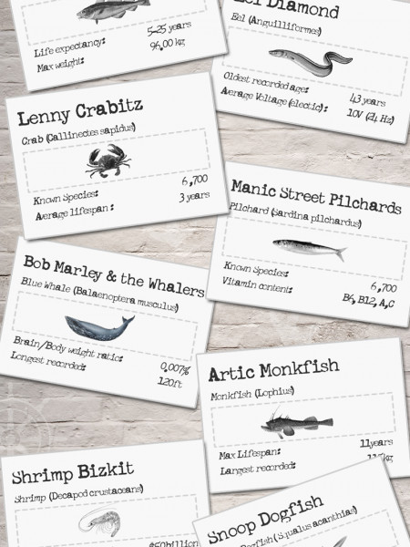 The essential guide to fishy band names Infographic