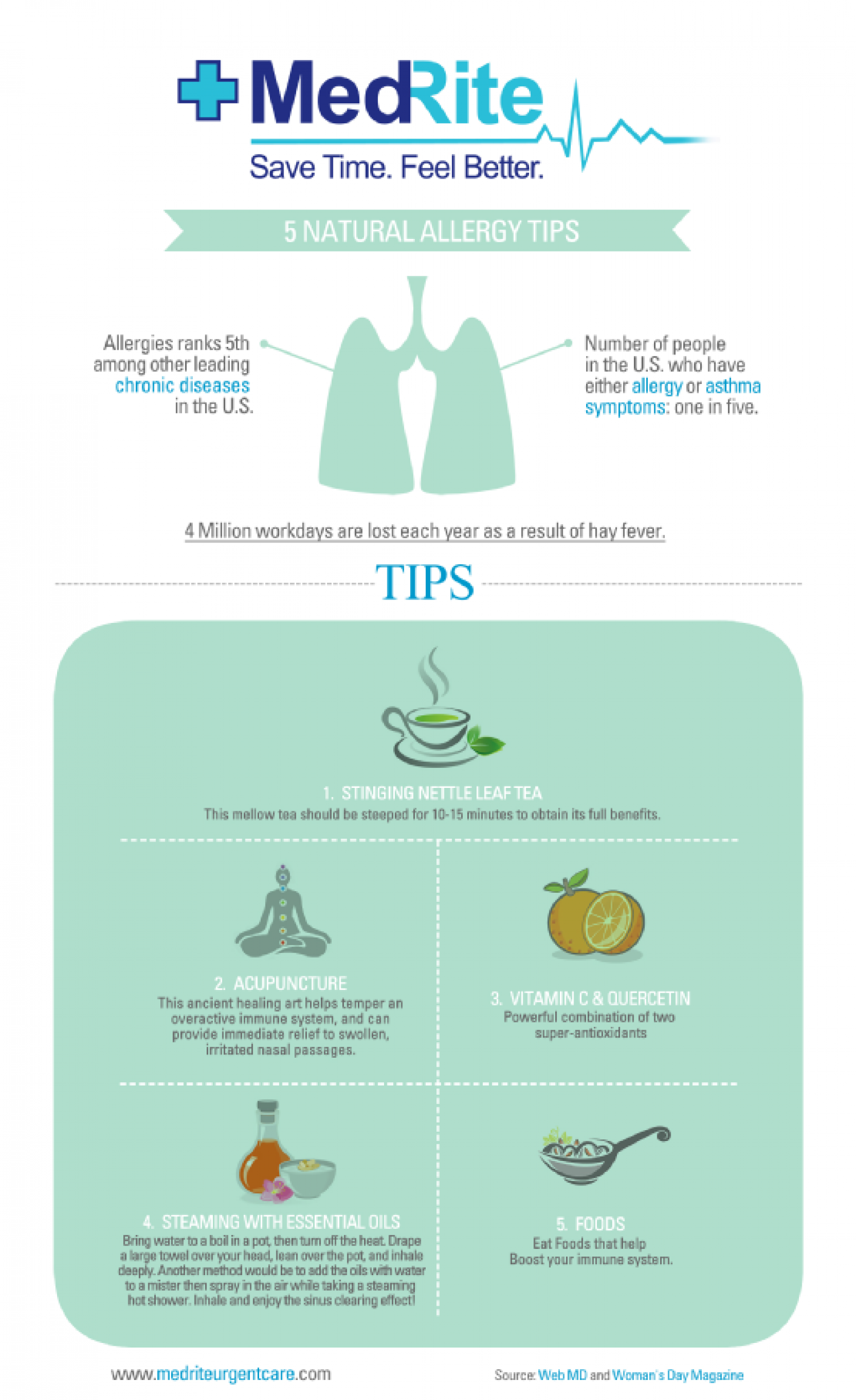 Five Natural Allergy Tips Infographic