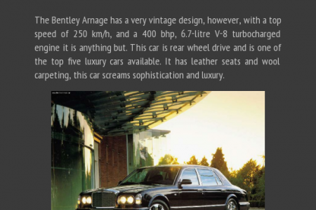 Five of the most luxurious cars of all time Infographic