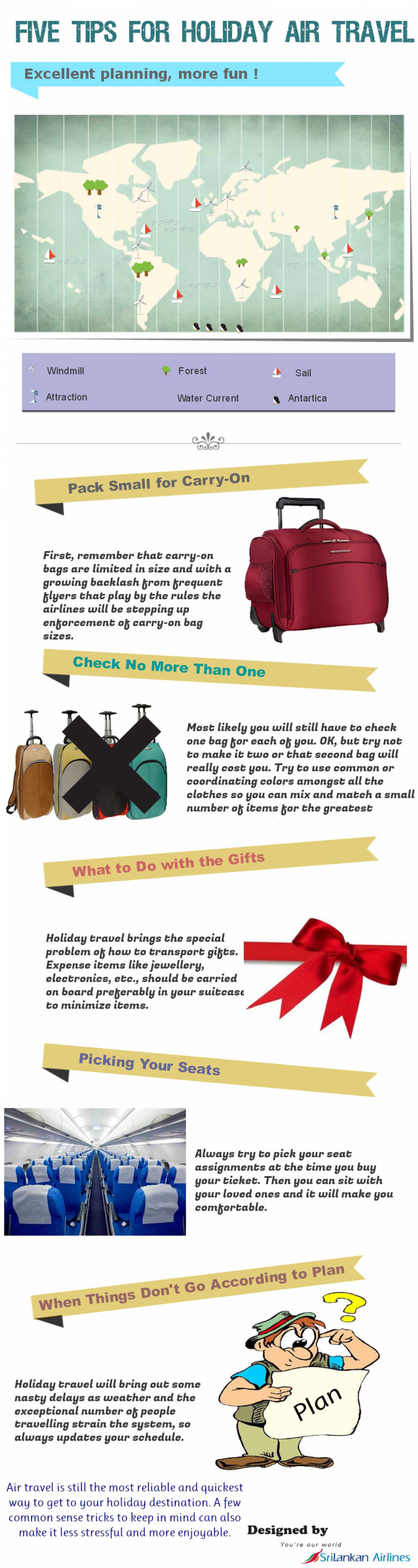 Five Tips for Holiday Air Travel Infographic