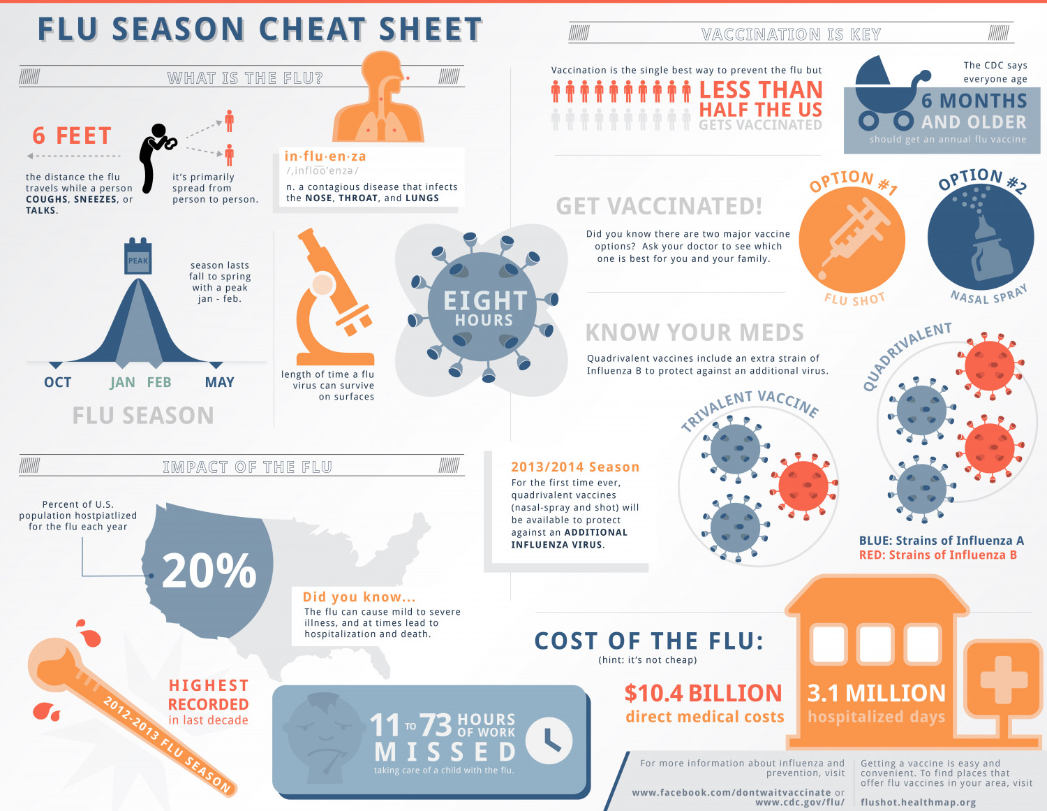 Flu Season Cheat Sheet Infographic
