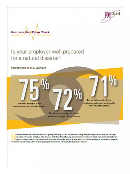 FM Global Business Risk Pulse Check – Natural Disasters - 2012 Infographic