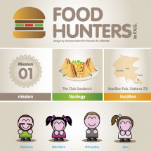 Food Hunters 01 - Club sandwich Infographic