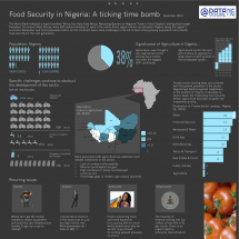 Food Security In Nigeria Infographic