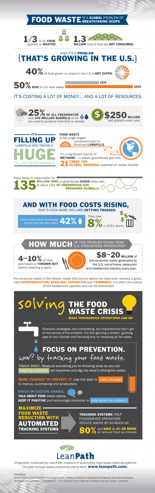 Food Waste Crisis: What Foodservice Operators Can Do Infographic