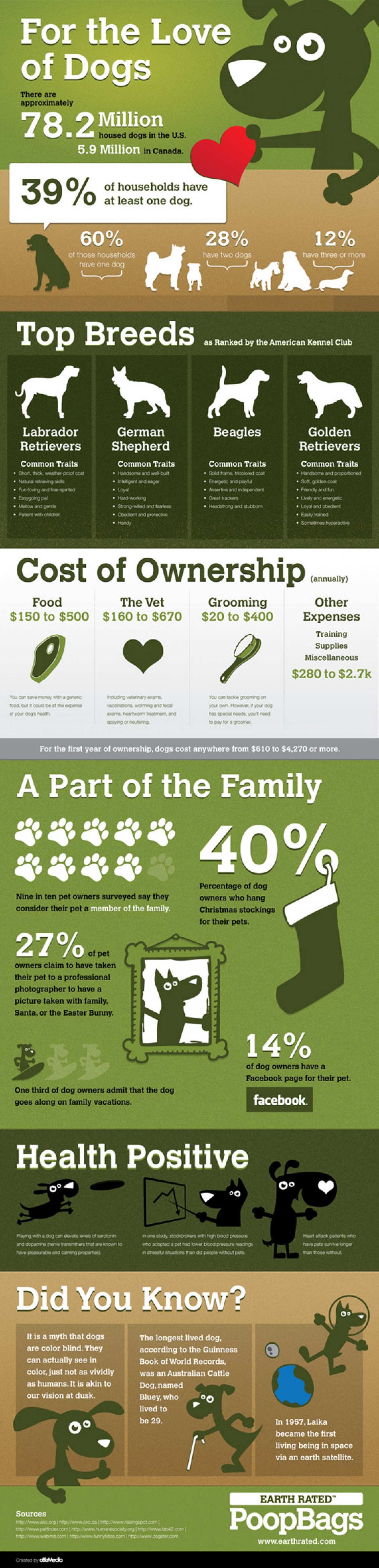 For The Love of Dogs  Infographic