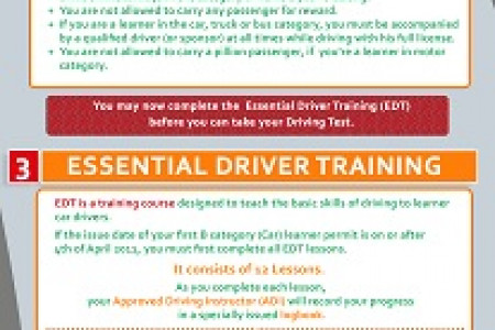 For your EDT choose the experts, choose myEDT Driving School Infographic