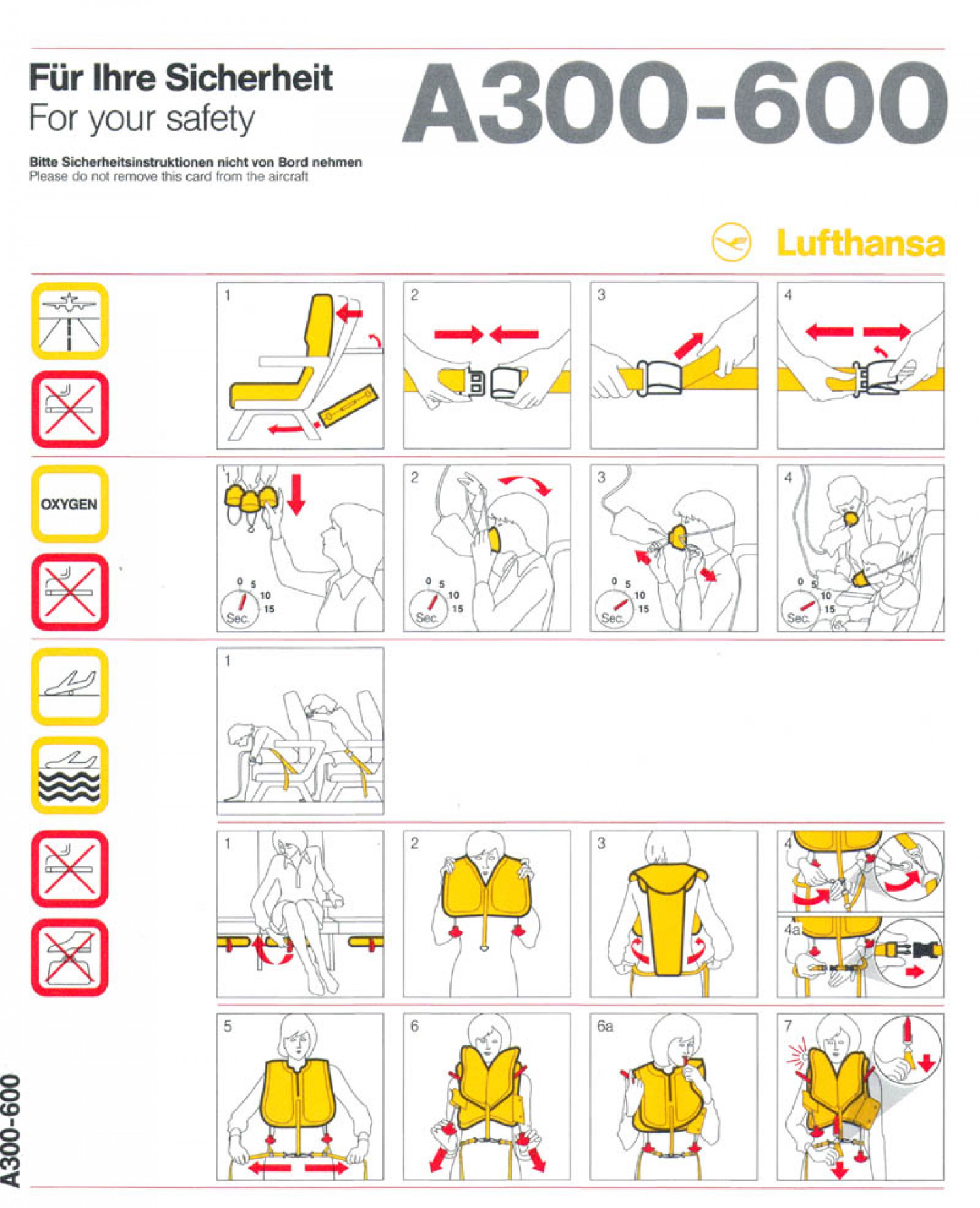 For Your Safety Luftansa Airlines  Infographic