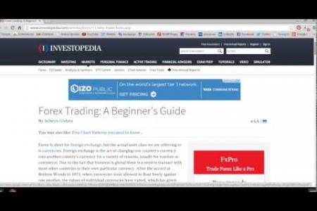 Forex Trading Online Guide – New Understanding Infographic