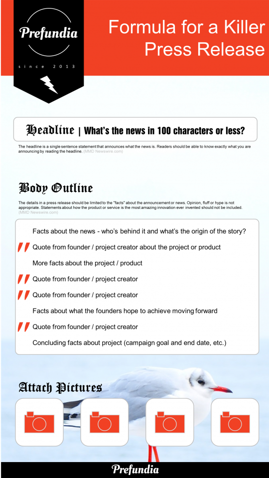 how to design a press release