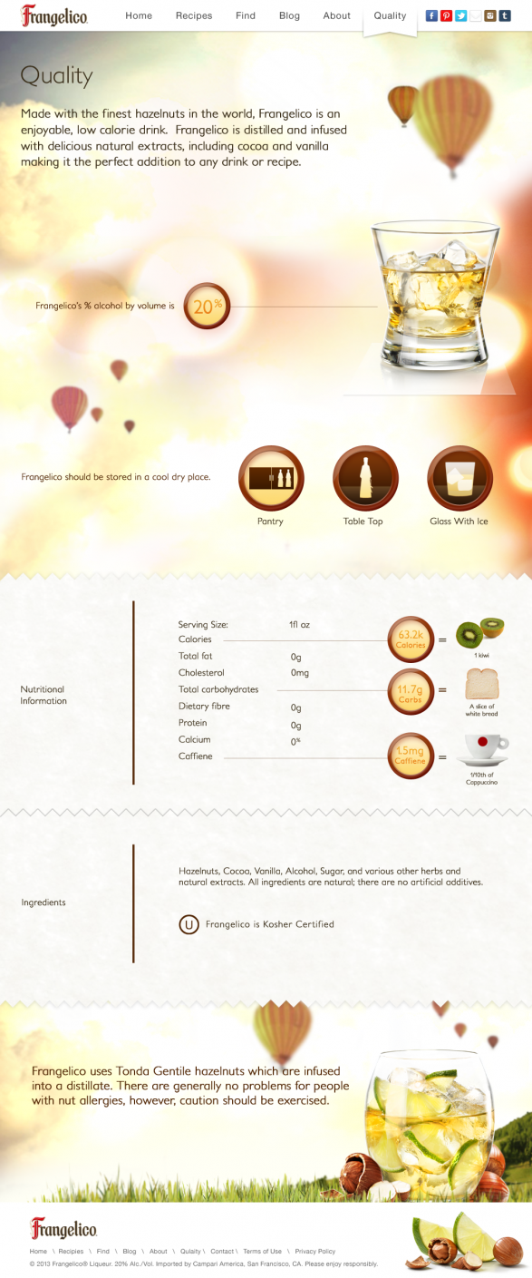 Frangelico Quality Parallax Infograph