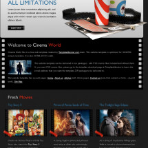 Free Cinema Website Template - A New Monday Freebie   Infographic