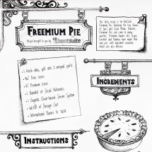 Freemium Pie - Recipe brought to you by HootSuite Infographic