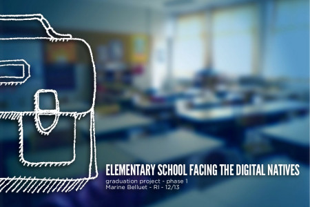 French elementary school facing the digital natives - Reasearches phase Infographic