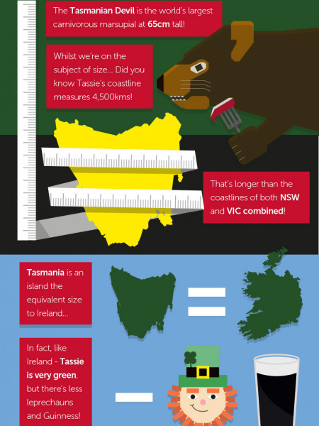 Did You Know...? Fun Facts about Tassie Infographic
