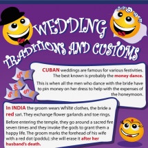 Fun Facts about Wedding Customs and Traditions Infographic