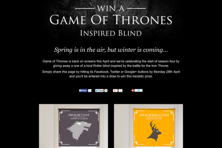 Game Of Thrones Inspired Blinds Infographic