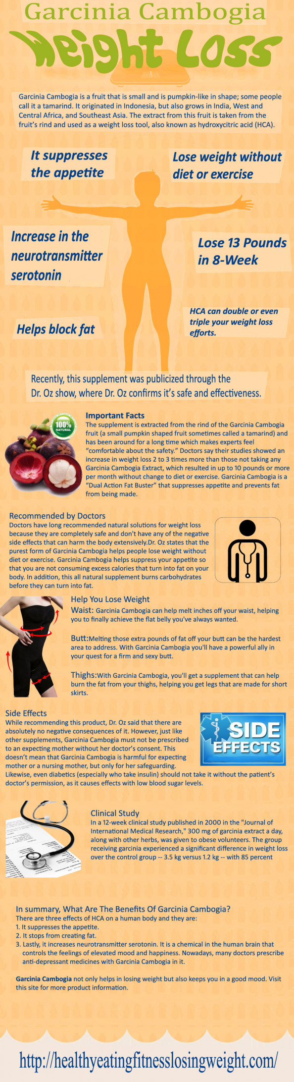 Garcinia extract for weight loss Infographic