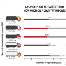 Gas Prices Not Affected by Oil Imports Infographic