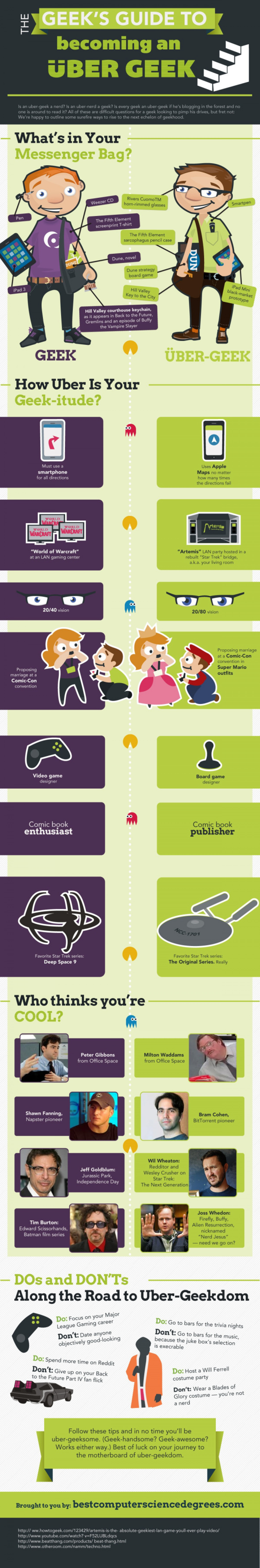 Geek's Guide to Becoming an Über Geek Infographic