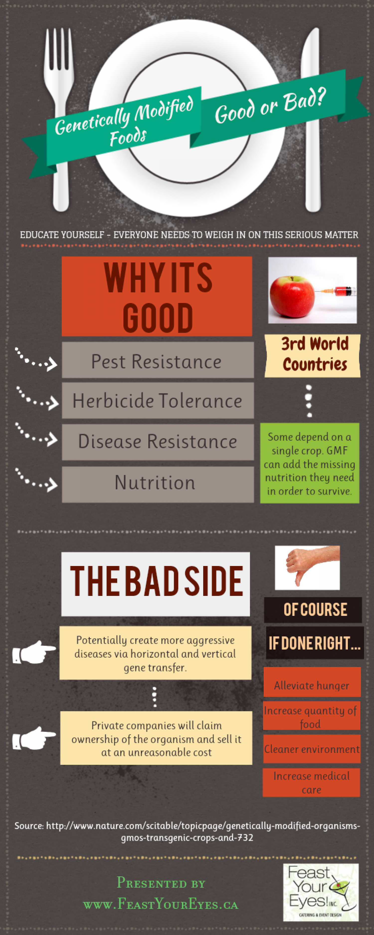 Genetically Modified Foods: Good or Bad?  Infographic