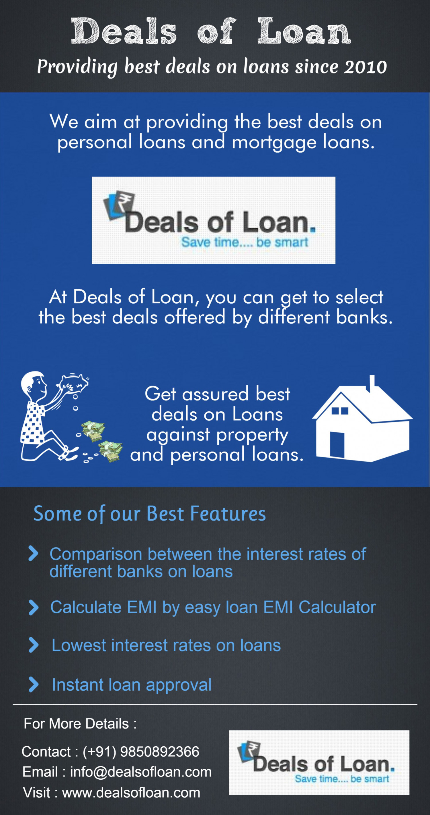 Get fixed interest rates on loan for 5 years- Deals of Loan Infographic