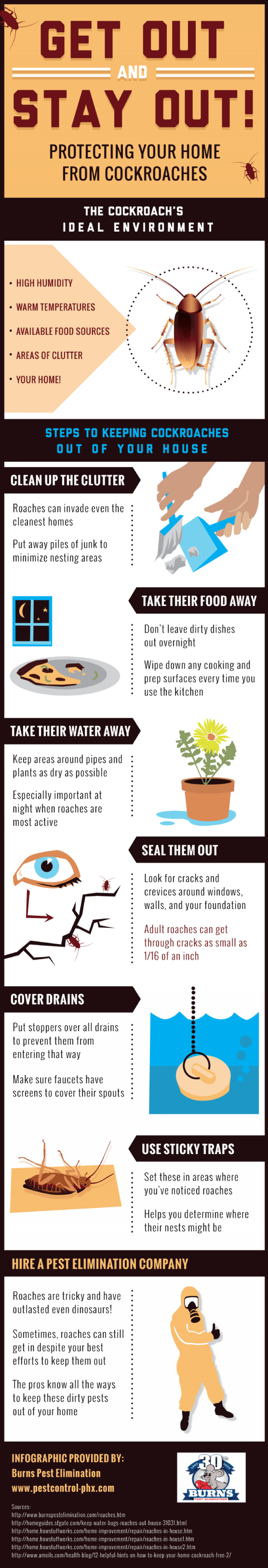 Get Out and Stay Out! Protecting Your Home from Cockroaches Infographic