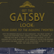 Get The Gatsby Look Infographic