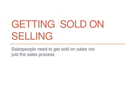 Getting Sold on Selling Infographic