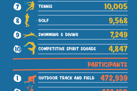 Girls High School Sport by the Numbers  Infographic
