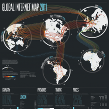 Global Internet Map 2011  Infographic