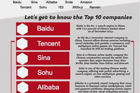 Global Marketing Infographic Top 10 Chinese Internet Companies Infographic