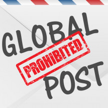 Global prohibted post items Infographic