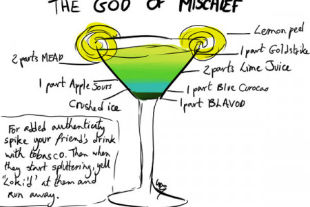 God of Mischief Cocktail Infographic