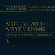 Gold Farming and You Infographic