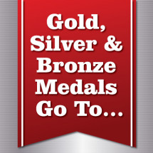 Gold, Silver and Bronze Medals Go To… Infographic