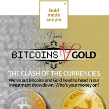 Bitcoins v Gold: The Clash of The Currencies Infographic