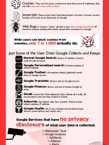 Google and User Data Infographic