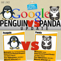 Google Penguin V/S Google Panda Update Infographic