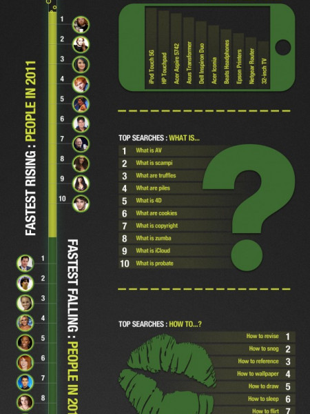 Google Zeitgeist: Top Web Searches of 2011 Infographic