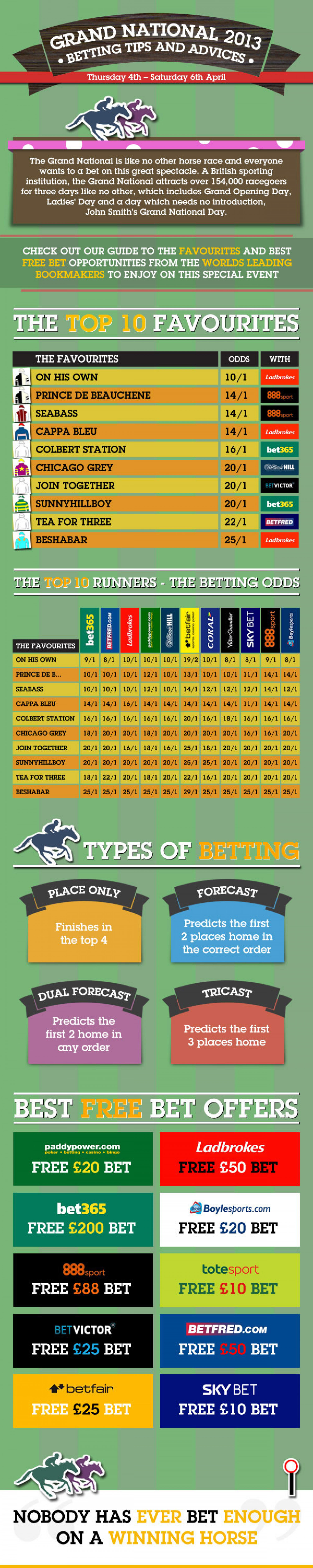 Grand National 2013 Betting tips and advice infographic Infographic