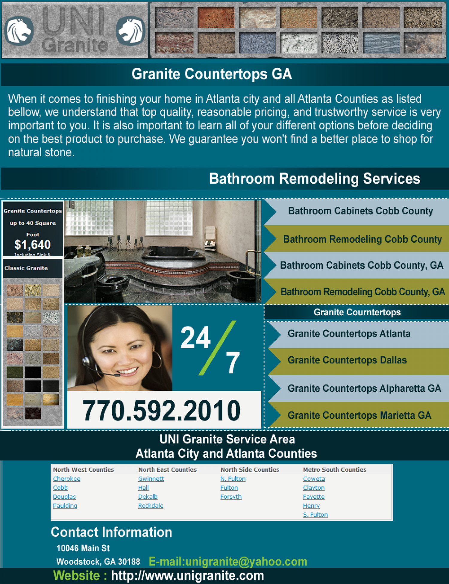 Granite Countertops GA Infographic
