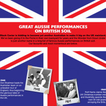 Great Aussie Performances on British Soil Infographic