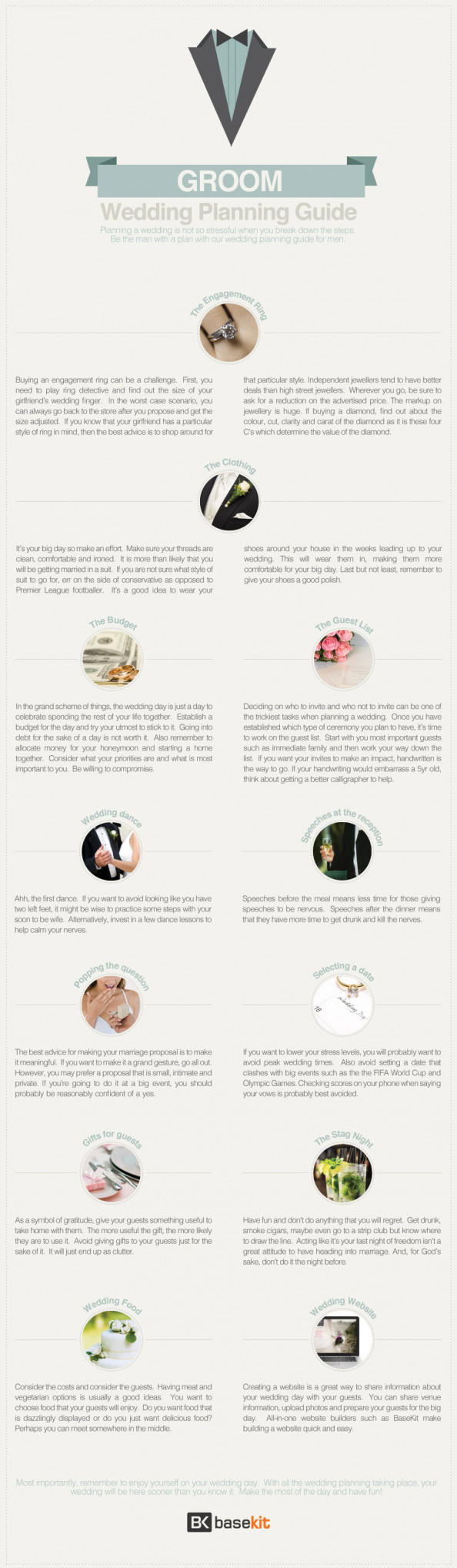 Groom&#039;s Guide To Wedding Planning Infographic
