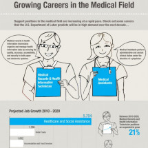 Growing Careers in the Medical Field Infographic